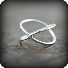 { P r o d u c t }  A fun ring that can be worn two different ways.      { M a t e r i a l s }  - sterling silver      { D i m e n s i o n s }  - 1.3mm