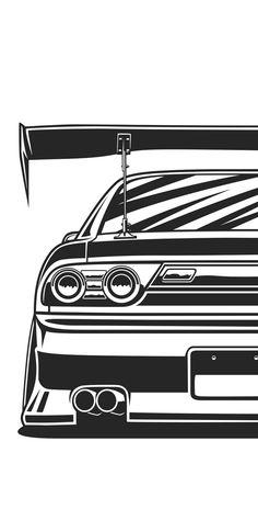 Car Iphone Wallpaper, Jdm Wallpaper, Car Wallpapers, Tuner Cars, Jdm Cars, Nissan 180sx, Car Tattoos, Street Racing Cars, Japan Cars