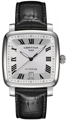 Certina Watch DS Podium Square Quartz #bezel-fixed #bracelet-strap-leather #brand-certina #case-material-steel #case-width-38-3mm #date-yes #delivery-timescale-7-10-days #dial-colour-silver #gender-mens #luxury #movement-quartz-battery #official-stockist-for-certina-watches #packaging-certina-watch-packaging #style-dress #subcat-ds-podium #subcat-specials-by-certina #supplier-model-no-c025-510-16-033-00 #warranty-certina-official-2-year-guarantee #water-resistant-100m