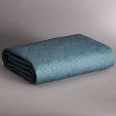 Simply Vera Wang Sky King Coverlet Teal Blue Quilt Bedspread