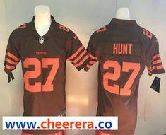 0ea0ee91fe2 Men's Cleveland Browns #27 Kareem Hunt Brown 2017 Vapor Untouchable  Stitched NFL Nike Limited Jersey