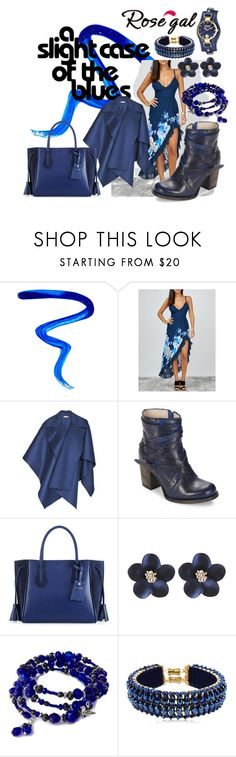 """""""blue fishtail maxi"""" by caroline-buster-brown ❤ liked on Polyvore featuring Givenchy, Hayley Menzies, Steven by Steve Madden, Longchamp and Only Child"""