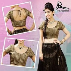 "Black Navratri Ready Made Padded Saree Blouse. ""Ra apparels"" launched by MuHeNeRa Ra 46"