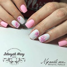 Nails gel, we adopt or not? - My Nails Rose Nails, Flower Nails, My Nails, Gel Polish Colors, Gel Nail Polish, Nail Colors, Bright Summer Nails, Spring Nails, Damaged Nails
