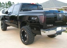 Nissan Titan Truck, Nissan Trucks, Rims For Sale, Wheels For Sale, Custom Wheels And Tires, New Nissan, Country Girls Outfits, 4 Wheelers, Black Wheels