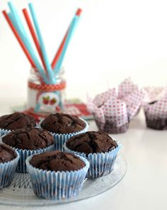 muffin tout chocolat - recette moelleuse #muffin #chocolat  Quand julie patisse
