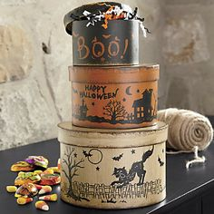 Set of 3 Halloween Boxes from Through the Country Door®