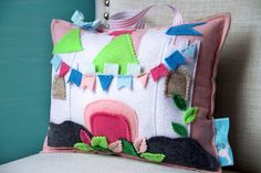 Tooth Fairy Pillow House Personalized Pillow by HouseOfLaylayt