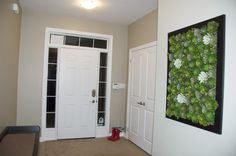 I love this faux succulent wall art