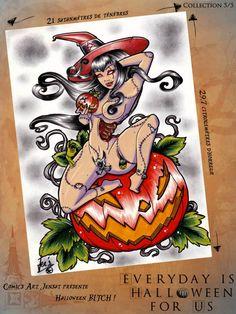 Oeuvre proposée par Comic's art Jensat, participante d'Everyday is Halloween for Us, Troisième Editon, 2013.   * La page d'Everyday: https://www.facebook.com/coffin.glok * Son site:  https://www.facebook.com/ComicsArtJensat?fref=ts