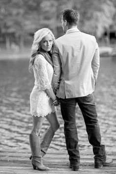 Love this idea for an engagement photo. But with REAL boots not those wannabe cowboy boots.