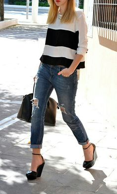 straight : distressed : cuffed crop : shoes :