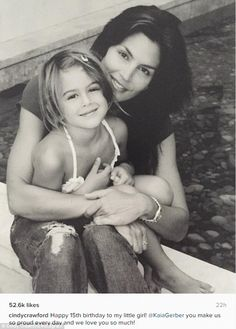 Loving memories: Cindy Crawford Saturday took to Instagram to wish her daughter Kaia a happy 15th birthday
