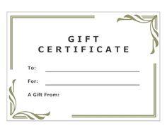 modern gift certificate - Smartdraw Certificate Templates