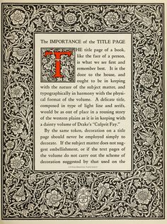 The manual of linotype typography, prepared to aid users and producers of printing in securing greater unity and real beauty in the printed page; Parts Of A Book, William Morris Art, Medieval, National Book Award, Types Of Lettering, Title Page, Arts And Crafts Movement, Typography Letters, Real Beauty