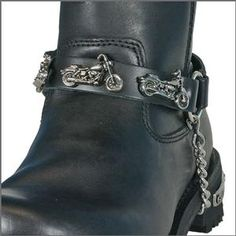 Hot Leathers Leather Boot Chain - Motorcycle