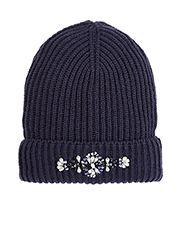 Gem Embellished Beanie Hat