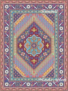 "Natalia's Fine Needlework: Dollhouse Area Rug ""Istanbul"" - New patterns"