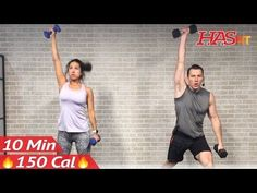 10 Minute Workout : HIIT Workout for Fat Loss & Strength Training Dumbbell Full Body Workout at Home - YouTube