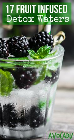 Lose weight with these fruit infused detox waters for weight loss! http://avocadu.com/detox-water-recipes/