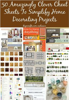 50 Amazingly Clever Cheat Sheets To Simplify Home Decorating Projects    Page.
