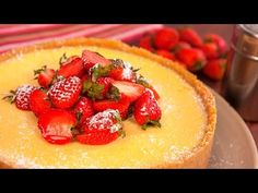 How to make an easy classic Baked Lemon Cheesecake in a blender - YouTube