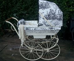 Victorian restored baby pram/antique/vintage/coach style le sociable french   eBay