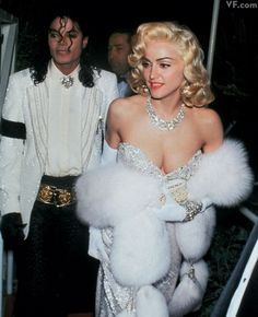 Michael Jackson and Madonna at the 1990 Oscars.