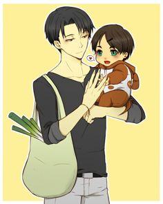 Levi and toddler!Eren