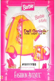 Fashion Avenue Barbie and Kelly Matching Styles Yellow Summerwear and…