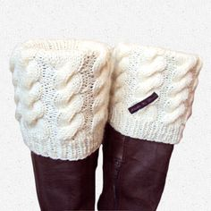 Ooh something I can knit myself!  Knitted Boot Cuffs