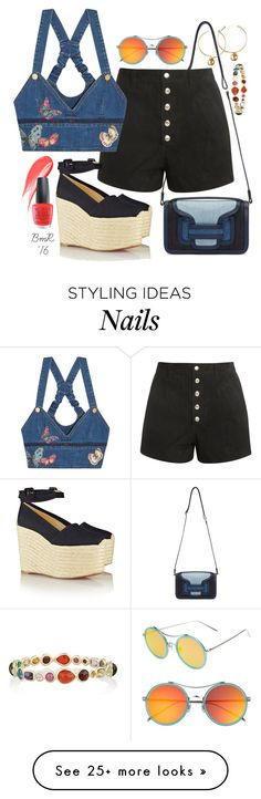 """Flutter By, Butterfly"" by barbmama on Polyvore featuring Pierre Hardy, rag & bone, Valentino, Christian Louboutin, Hourglass Cosmetics, OPI, Gentle Monster, Ippolita, women's clothing and women"