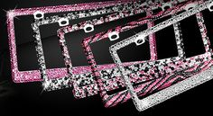 License Plate Frame Bling Rhinestone Chrome Coating Metal Sparkly Shining Fully encrusted in multiple sized Diamond Crystal on Etsy, $39.99