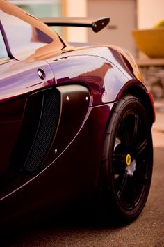 desertmotors:  2006 Lotus Exige Coupe Aubergine Purple exterior with black leather interior.