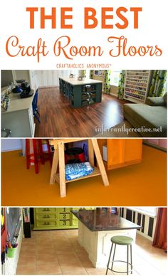 What is the best flooring for your Craft Room? Experienced crafters weigh in with pros, cons, and product recommendations.