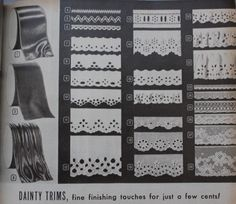 1940s Fabrics and Colors in Fashion: Ribbon for hats and big bows on girls dresses. White eyelet lace for ruffles and edgings. Ric-Rac came in red, green, royal blue, or white.    #1940sfashion #vintage http://www.vintagedancer.com/1940s/1940s-fabrics-colors-fashion/