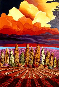 Chili Field by Gene Brown Acrylic on canvas
