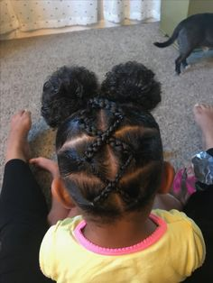 Little Girls Natural Hairstyles, Cute Toddler Hairstyles, Kids Curly Hairstyles, Baby Girl Hairstyles, Hairstyles For Black Kids, Toddler Curly Hair, Toddler Braids, Girl Hair Dos, 4c Hair