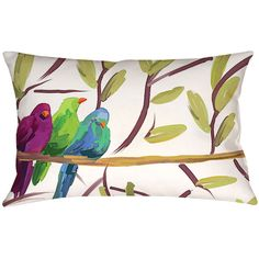 Flocked Together Outdoor Pillow I