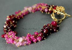Untold Secrets  Faceted ruby Rondelles and by melanielanddesigns, $233.57