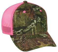 Ladies Hot Pink and Camo Hat by StitchingEverything on Etsy
