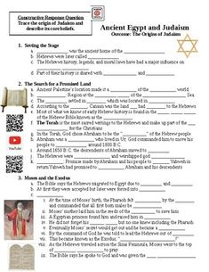 This handout accompanies the Judaism PowerPoint Lecture. This is for the students to fill out while they listen to the lecture. Note: The thumbnails show some formatting changes. I assure you that the downloadable product is nice and neat.