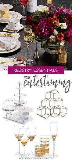 Macys Registry Macysregistry Sponsored Top Wedding Picks For Entertaining In Style