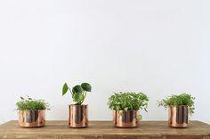 Macetas J y JJ - Copper Cobre Planter from Chile - Legado Studio