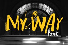 Check out MY WAY by PosterizerKG on Creative Market  Nice and grungey  #fonts
