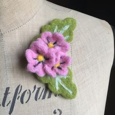 Needle felted flower Floral posy brooch corsage by Emma Herian // Sew Recycled