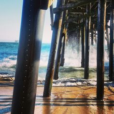 One of the last remaining wooden piers on the west coast.
