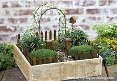 How to Create a Fairy Garden by The Everyday Home Garden Crafts, Garden Projects, Create A Fairy, Mini Fairy Garden, Garden Train, Fairy Gardening, Garden Arbor, Dream Garden, Garden Terrarium