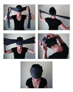 how to wear a Head Scarf Yoga Headband- by EcoShag