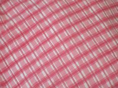 NAUTICA Twin Fitted Sheet  PLAID CHECK PINK WHITE 100 % cotton #NAUTICA #Patterned